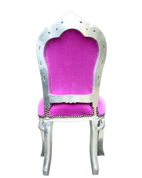 barock esszimmer stuhl pink silber st hle esszimmerst hle ohne armlehne. Black Bedroom Furniture Sets. Home Design Ideas