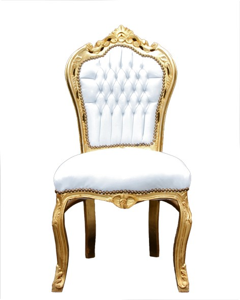 Casa Padrino Barock Esszimmer Stuhl WeißGold  Möbel Antik Stil