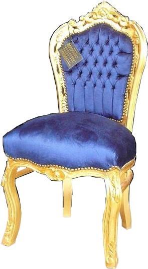 casa padrino barock esszimmer stuhl royalblau gold st hle esszimmerst hle ohne armlehne. Black Bedroom Furniture Sets. Home Design Ideas