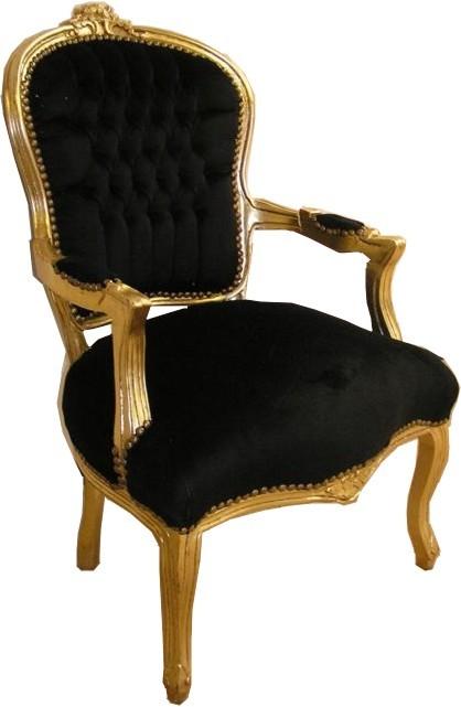barock salon stuhl schwarz gold st hle salon st hle mod1. Black Bedroom Furniture Sets. Home Design Ideas