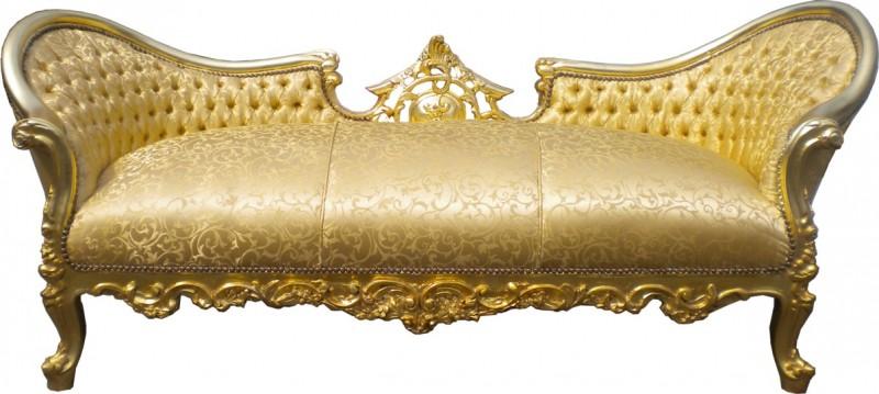 casa padrino barock sofa garnitur vampire gold muster satin limited edition unikat sofas. Black Bedroom Furniture Sets. Home Design Ideas