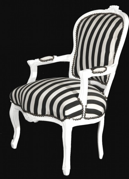 casa padrino barock salon stuhl schwarz wei streifen wei m bel gestreift st hle salon. Black Bedroom Furniture Sets. Home Design Ideas