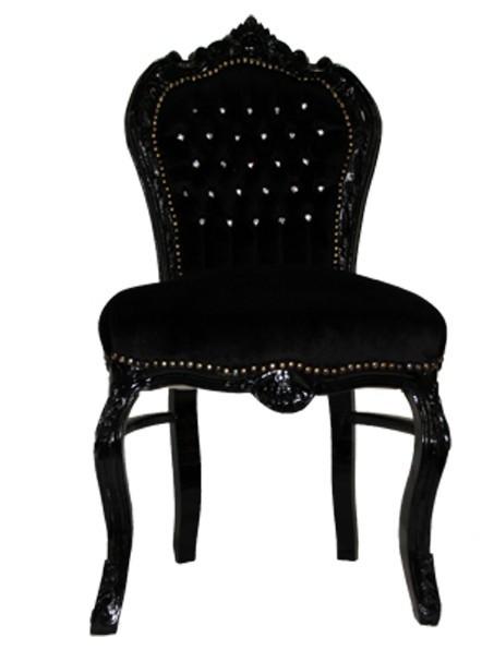 Barock esszimmer stuhl schwarz schwarz bling bling st hle for Stuhl schwarz esszimmer
