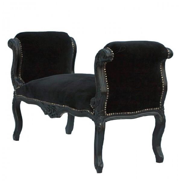 barock schemel hocker schwarz schwarz sitzbank hocker. Black Bedroom Furniture Sets. Home Design Ideas