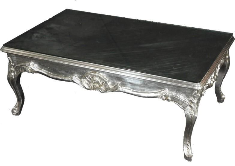 Casa Padrino Barock Couchtisch Silber 120 x 80 cm Wohnzimmer Tisch ...