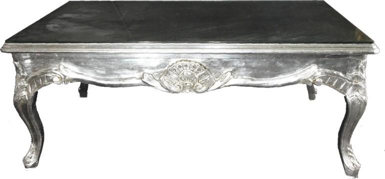 Casa Padrino Barock Couchtisch Silber 120 x 80 cm