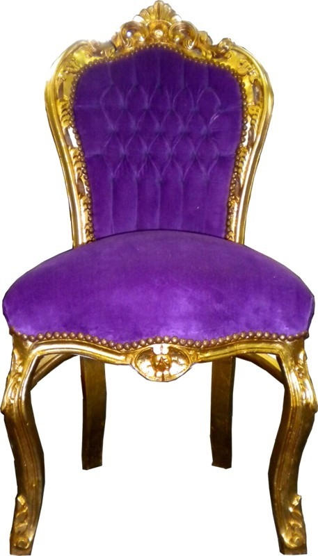 Casa Padrino Barock Esszimmer Stuhl LilaGold  Möbel Antik Stil