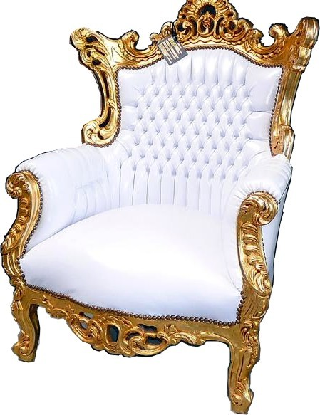 casa padrino barock sessel al capone wei gold sessel modell al capone. Black Bedroom Furniture Sets. Home Design Ideas