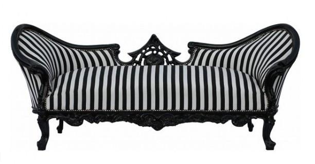 casa padrino barock sofa garnitur vampire schwarz wei streifen schwarz sofas. Black Bedroom Furniture Sets. Home Design Ideas