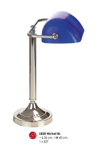 Tapete Hellblau Wei? Gestreift : Glass Crystal Table Lamp