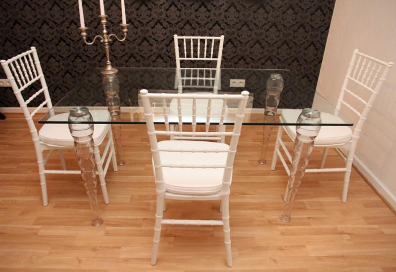 designer acryl esszimmer set wei wei ghost chair table. Black Bedroom Furniture Sets. Home Design Ideas