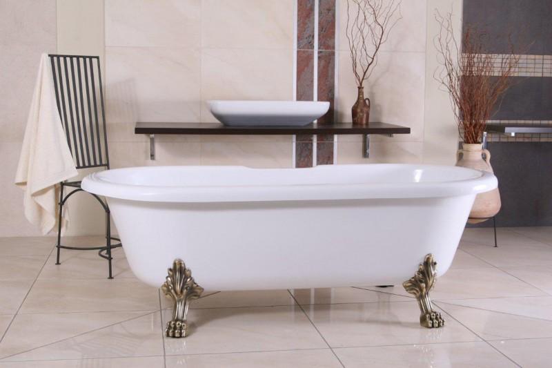 freistehende luxus badewanne jugendstil milano wei. Black Bedroom Furniture Sets. Home Design Ideas