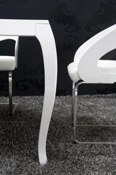 Barock Esstisch Hochglanz Weiß 200cm - Esszimmer Tisch - 10558 ...