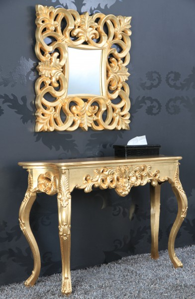 barock wandspiegel gold antik h he 76 cm breite 76 cm edel prunkvoll spiegel. Black Bedroom Furniture Sets. Home Design Ideas