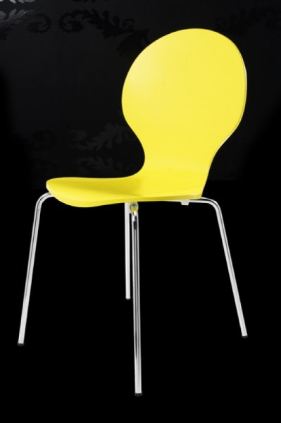 Casa padrino designer stuhl form gelb 9411 designer st hle for Design stuhl form