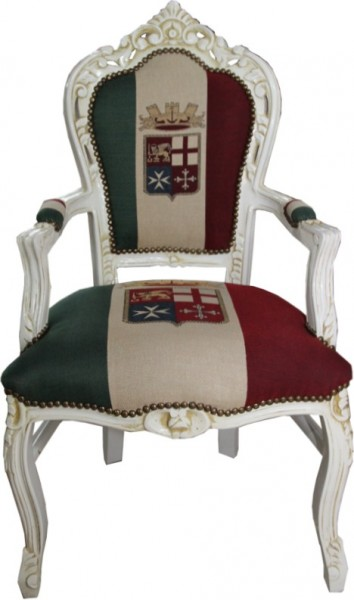 casa padrino barock esszimmer mit armlehnen italien creme antik stil st hle esszimmerst hle. Black Bedroom Furniture Sets. Home Design Ideas