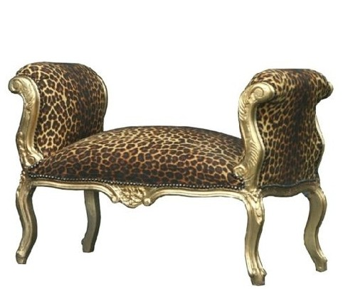casa padrino barock schemel hocker leopard gold sitzbank. Black Bedroom Furniture Sets. Home Design Ideas