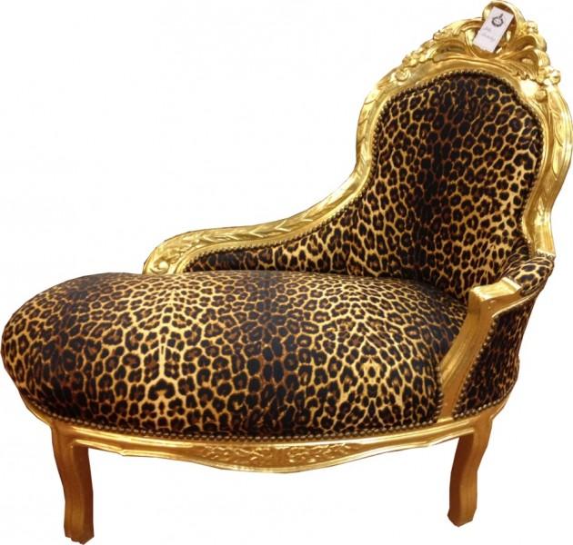 barock kinder chaiselongue leopard gold tron barock m bel casa padrino farbwelten leopard gold. Black Bedroom Furniture Sets. Home Design Ideas