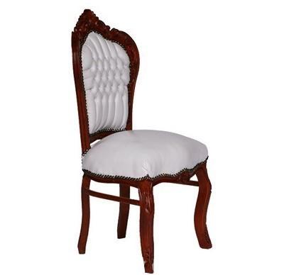 casa padrino barock esszimmer stuhl wei braun lederoptik barock m bel st hle esszimmerst hle. Black Bedroom Furniture Sets. Home Design Ideas