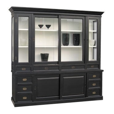 gro er shabby chic landhaus stil schrank mit 5 t ren und. Black Bedroom Furniture Sets. Home Design Ideas