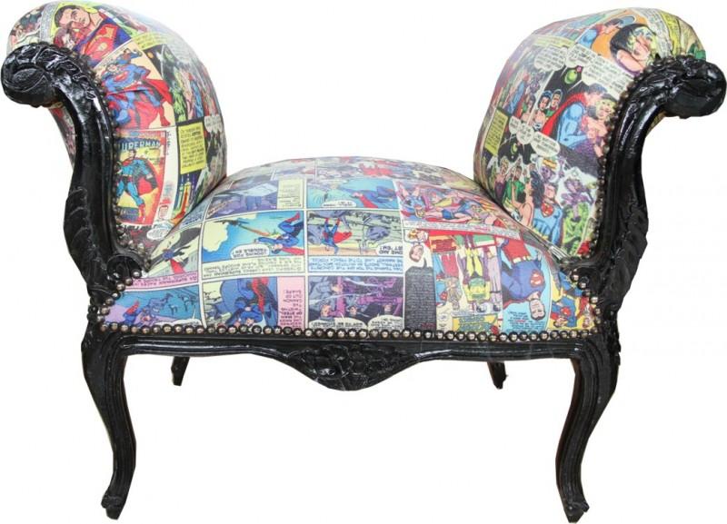 casa padrino barock schemel hocker comic design mod1. Black Bedroom Furniture Sets. Home Design Ideas