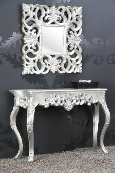 barock konsolentisch silber damen schreibtisch. Black Bedroom Furniture Sets. Home Design Ideas