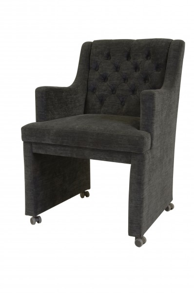 Casa Padrino Designer Esszimmer Stuhl  Sessel ModEF 310 Dunkelgrau