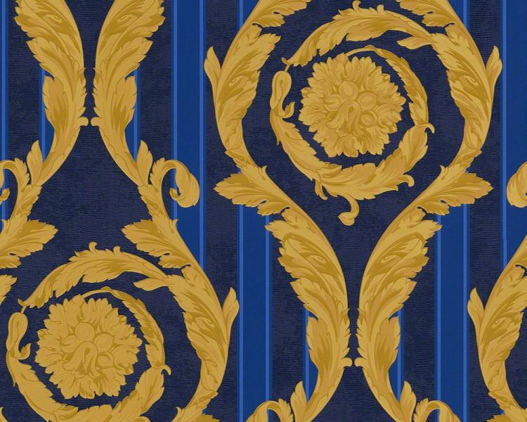 Jugendstil Stoffe Tapeten : Versace Gold