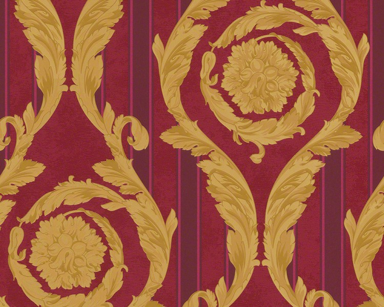 Versace Designer Barock Tapete Home Collection 935683 Jugendstil Vliestapete Vlies Tapete Rot