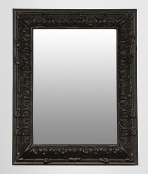 pomp ser barock spiegel rechteckig schwarz 157 x 124 cm spiegel. Black Bedroom Furniture Sets. Home Design Ideas