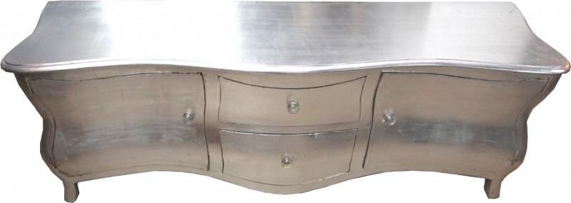 lange barock kommode fernsehschrank sideboard silber 170cm unikat kommoden. Black Bedroom Furniture Sets. Home Design Ideas