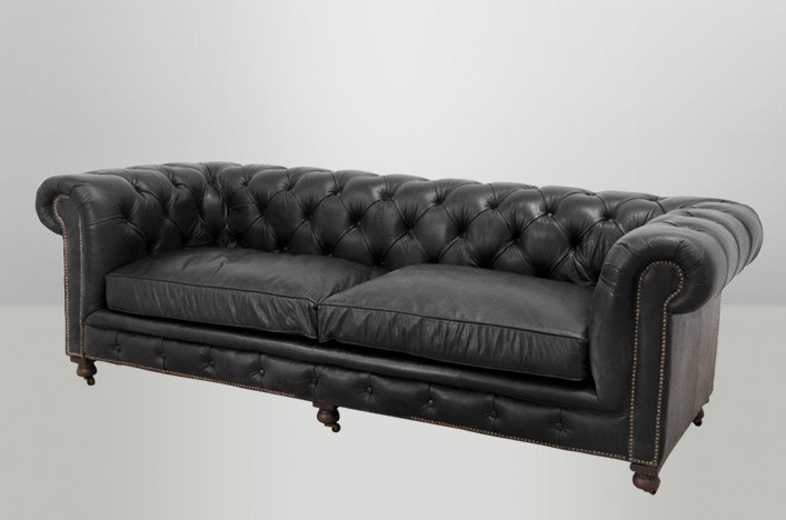 chesterfield luxus echt leder sofa 3 sitzer vintage leder von casa padrino old saddle black sofas. Black Bedroom Furniture Sets. Home Design Ideas