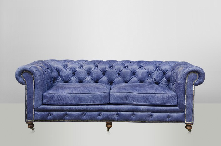 chesterfield luxus echt leder sofa 2 5 seater vintage leder von casa padrino galata blue sofas. Black Bedroom Furniture Sets. Home Design Ideas