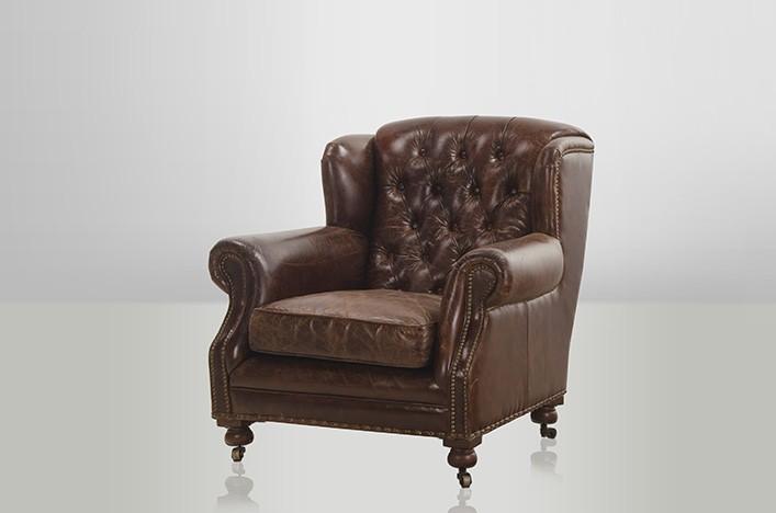 chesterfield luxus echt leder ohrensessel adringley. Black Bedroom Furniture Sets. Home Design Ideas