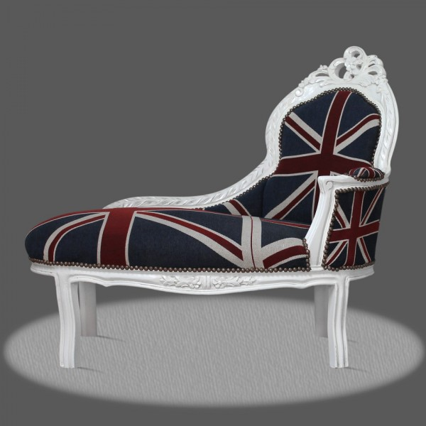 casa padrino barock kinder chaiselongue union jack wei recamiere barock m bel casa padrino. Black Bedroom Furniture Sets. Home Design Ideas