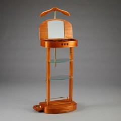 casa padrino designer luxus garderoben st nder mit spiegel und regalen holzfarben dressboy. Black Bedroom Furniture Sets. Home Design Ideas