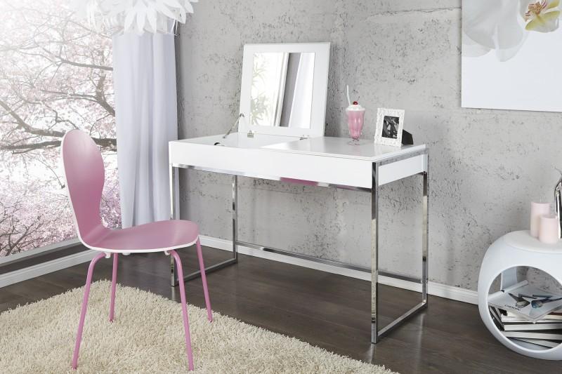 casa padrino designer schminktisch mit spiegel weiss damen schreibtisch sekret r konsole. Black Bedroom Furniture Sets. Home Design Ideas
