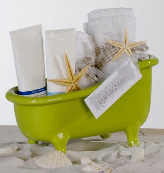 designer badewanne aus keramik gr n l nge 25 cm h he 14. Black Bedroom Furniture Sets. Home Design Ideas