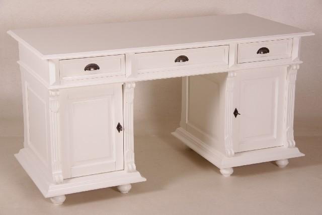 casa padrino schreibtisch kiefer massiv england wei englischer schreibtisch antik stil. Black Bedroom Furniture Sets. Home Design Ideas