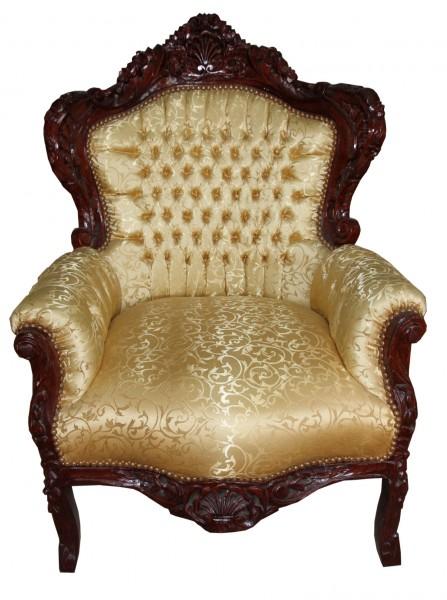 casa padrino barock sessel king gold muster brown m bel antik stil sessel modell king. Black Bedroom Furniture Sets. Home Design Ideas