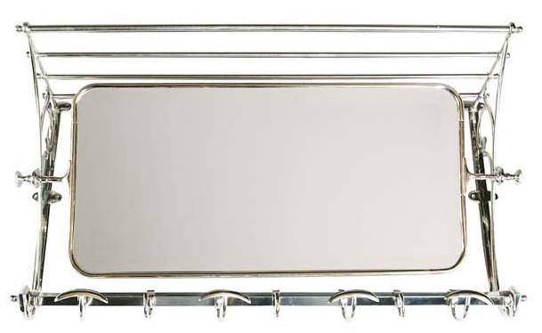 franz sische luxus wandgarderobe mit spiegel silberfarben. Black Bedroom Furniture Sets. Home Design Ideas