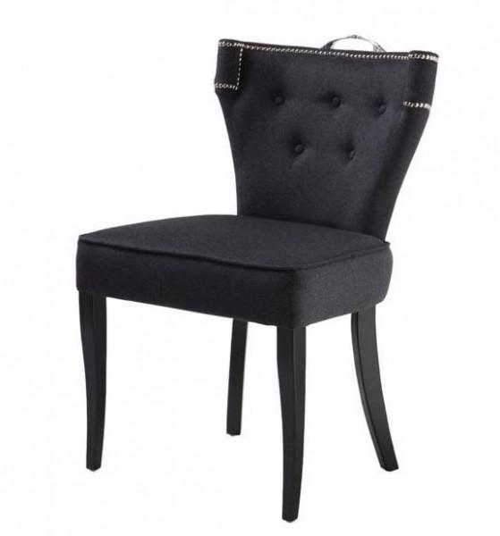 casa padrino luxus esszimmer stuhl florida dunkelgrau schwarz aus der luxus kollektion von. Black Bedroom Furniture Sets. Home Design Ideas