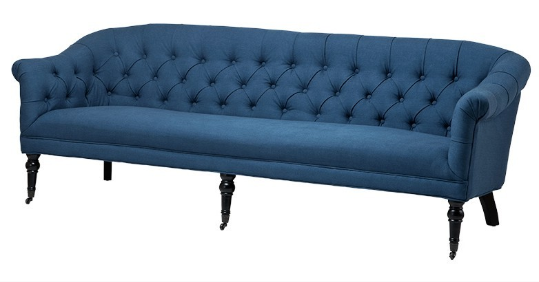 luxus barock sofa paris blau aus der luxus kollektion von casa padrino hotel cafe restaurant. Black Bedroom Furniture Sets. Home Design Ideas
