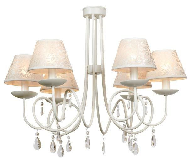 casa padrino barock kronleuchter mit glaskristallen weiss 6 flammiger l ster durchmesser 62. Black Bedroom Furniture Sets. Home Design Ideas