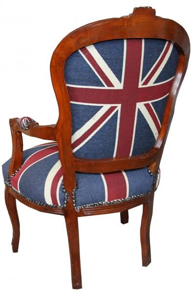 ... Mahagoni Braun - Englische Flagge - England Stühle Salon Stühle Mod1