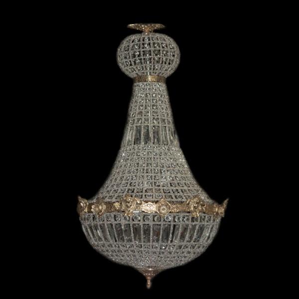 Barock kronleuchter gold mit glaskristallen h he 90 cm for Kronleuchter barock