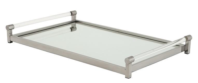 casa padrino luxus tablett rechteckig massiv spiegel oberfl che edelstahl massiv vernickelt 36 x. Black Bedroom Furniture Sets. Home Design Ideas