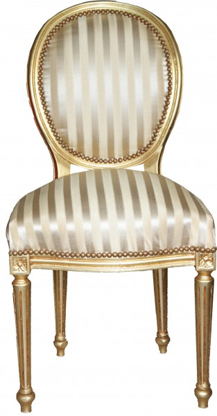 Casa Padrino Barock Esszimmer Stuhl GoldGold Mod2 Rund Stühle