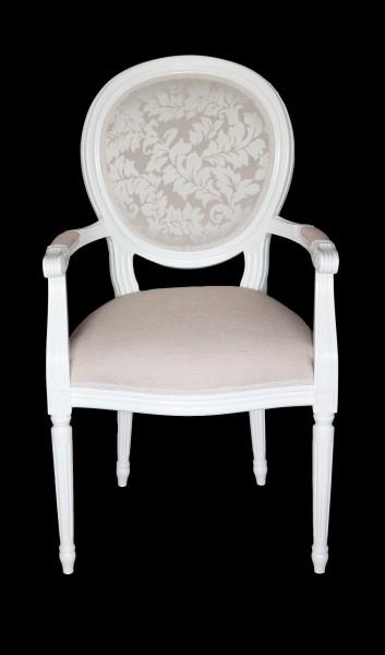 casa padrino barock esszimmer stuhl mit armlehne creme. Black Bedroom Furniture Sets. Home Design Ideas