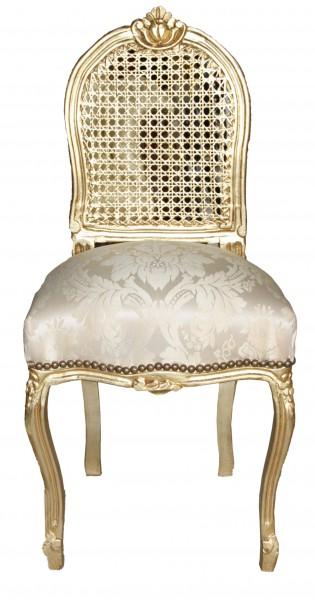 casa padrino barock damen stuhl gold muster gold schminkstuhl st hle damen st hle. Black Bedroom Furniture Sets. Home Design Ideas
